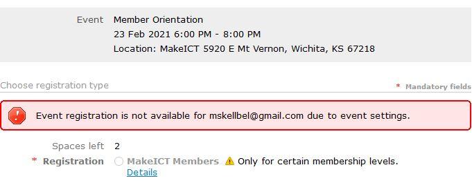 membership error